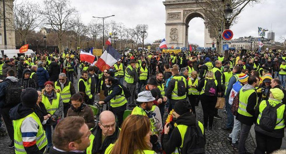 Recordemos que,el 17 de noviembre de 2019, 282.000 manifestantes participaron en el primer acto del movimiento, nacido en redes sociales. (Foto: AFP)