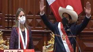 Pedro Castillo juró como nuevo presidente del Perú