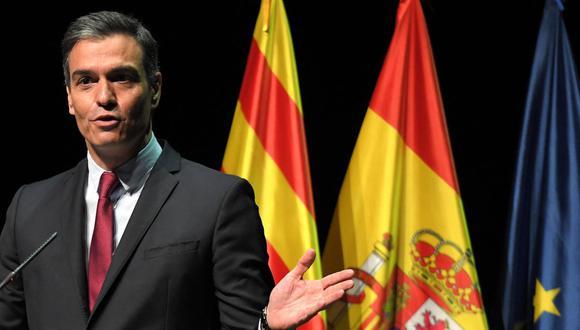 El presidente del Gobierno de España, Pedro Sánchez, anunció los indultos de los independentistas catalanes. (Foto: LLUIS GENE / AFP).
