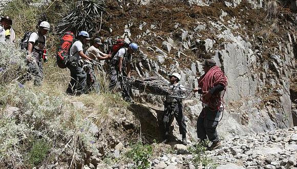 El cuerpo fue hallado tras ocho meses de búsqueda. (Heiner Aparicio)