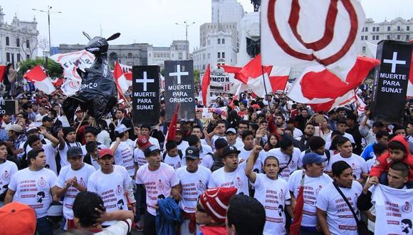 La manifestación iniciará en Campo de Marte y terminará en la Plaza San Martín. (RPP Noticias)