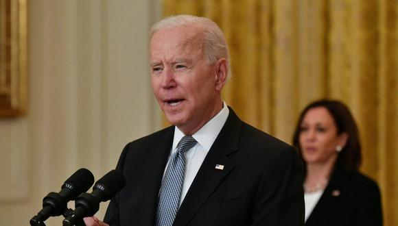 Dentro de su propuesta de Plan para las Familias, Joe Biden pidió que el crédito impositivo por hijo se extienda hasta 2025, pero por ahora solo está vigente por este año. (Foto: Nicholas Kamm / AFP)
