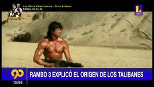 """La película """"Rambo 3″ explicó el origen de los Talibanes en Afganistán"""