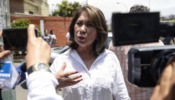 Martha Chávez sobre comunidad LGTBI: 'No hay discriminación, pero que se casen y adopten hijos no lo vamos a permitir'. Fotos: Miguel Yovera/GEC