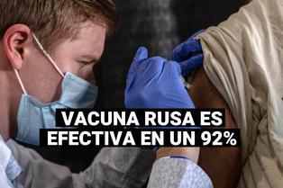 COVID-19: Rusia asegura que su vacuna Sputnik V tiene una eficacia del 92%