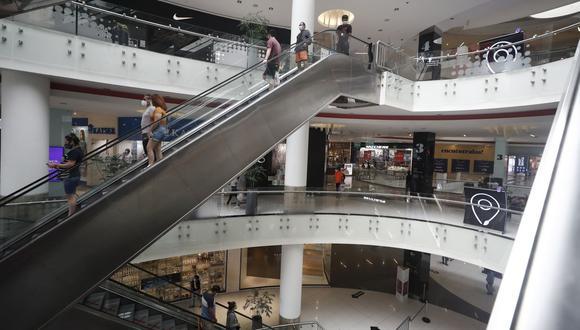 El aforo en centros comerciales ahora es de 40%. (Foto: Cesar Campos | GEC)
