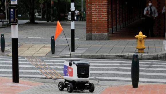 Con este prototipo Rappi inició entregas a domicilio en Colombia en medio de la cuarentena. (REUTERS)