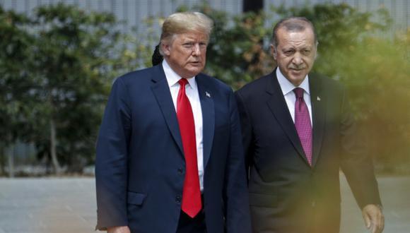 """El presidente de Estados Unidos, Donald Trump, agregó que el presidente de Turquía, Recep Tayyip Erdogan, """"es un hombre que puede hacerlo"""". (Foto: AFP)"""