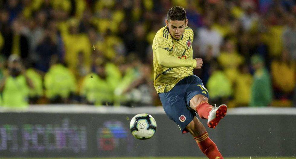 James Rodríguez confirmado para jugar frente a la selección peruana. (Foto: AFP)