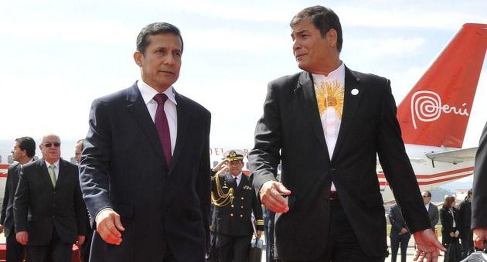 Humala y Correa comparten la incomodidad que provoca la fiscalización de la prensa. (Difusión)