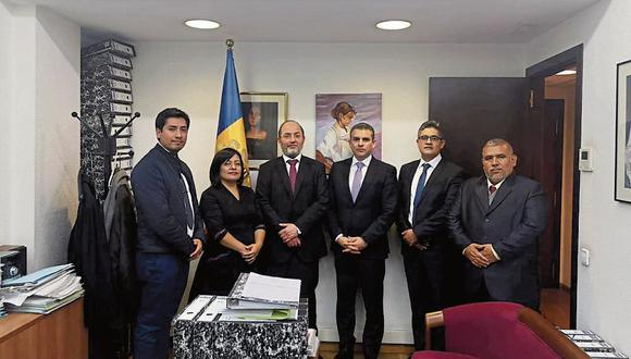 SIGUEN LAS PISTAS. Equipo Lava Jato, que preside Rafel Vela, se reunió con el fiscal de Andorra. (Ministerio Público)