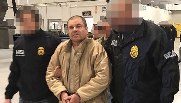 """""""El Chapo"""" aguarda en la prisión neoyorquina la lectura de su sentencia, que está prevista para el día 25 de junio de este año. (Foto: AFP)"""