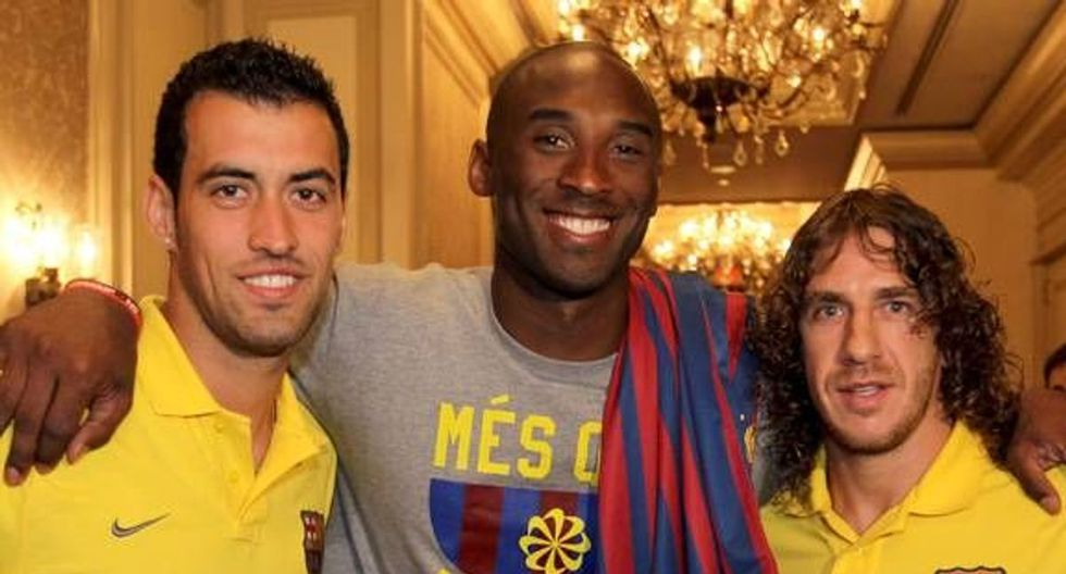 Kobe Bryant era hincha confeso del Barcelona. (Foto: Barcelona)