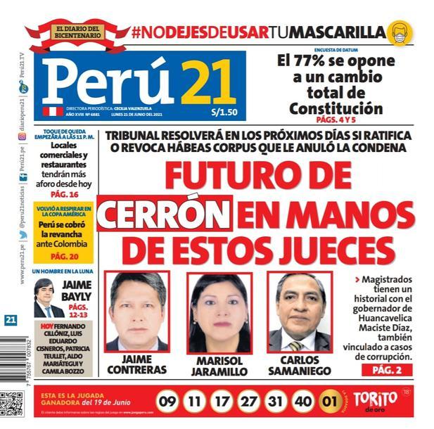 FUTURO DE CERRÓN EN MANOS DE ESTOS JUECES
