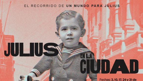 """Hoy a las 4 p. m. se transmitirá a través de Zoom el recorrido virtual en vivo """"Julius en la ciudad"""" con Luis Rodríguez Pastor. Inscripciones por Whatsapp al número 984778999."""