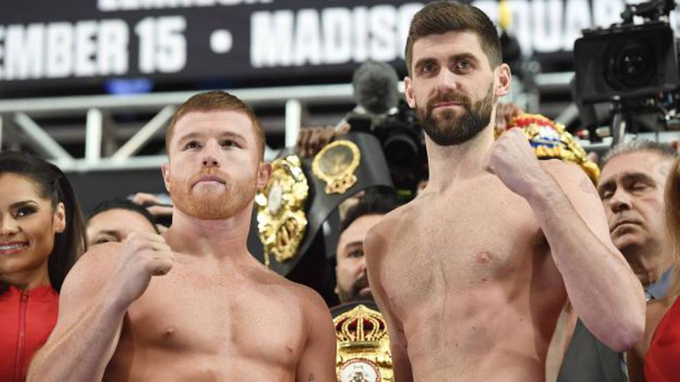 Canelo Álvarez vs. Rocky Fielding pelean por el título supermediano de la AMB. (Foto: AFP)
