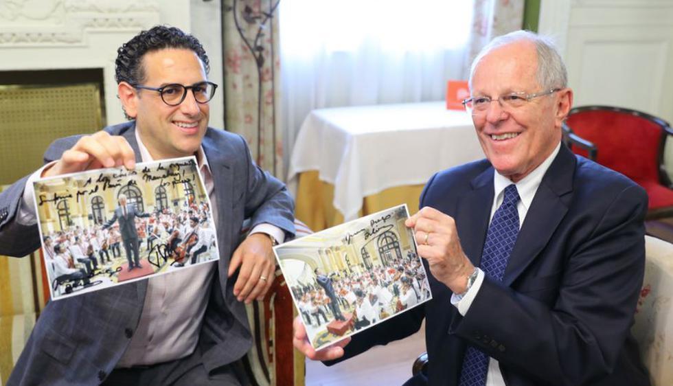 PPK y Juan Diego Flórez se reunieron en Madrid (Presidencia de la República)