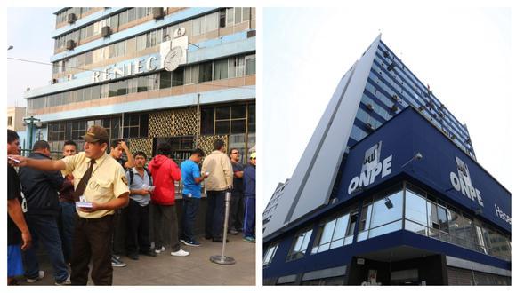 Sindicatos de Trabajadores del Reniec y de la ONPE piden mejoras salariales. (Foto: GEC/Andina Referencial)