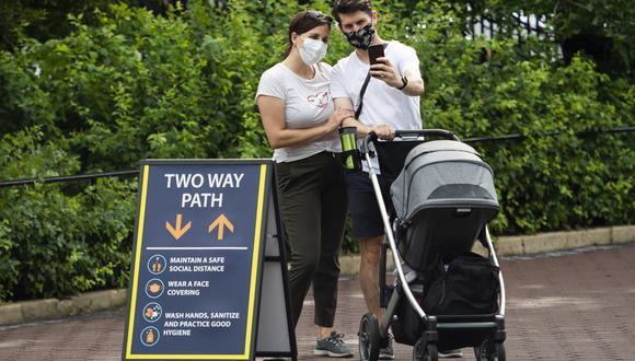 Los visitantes de Maryland y Virginia, estados vecinos de Washington DC, quedaron exentos de esta normativa. (Foto: ANDREW CABALLERO-REYNOLDS / AFP)
