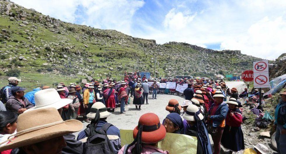 """Edinson Vargas Huilca explicó que """"tregua"""" será hasta jueves 11 de abril a la espera de la llegada del premier. (Foto: GEC)"""