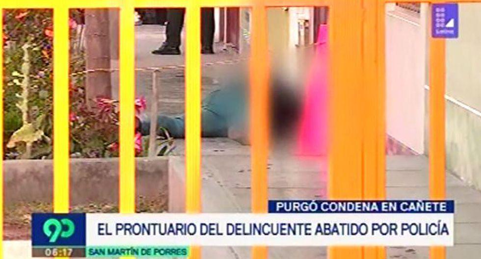El prontuario del presunto delincuente abatido a tiros en SMP en amplio. (Latina)