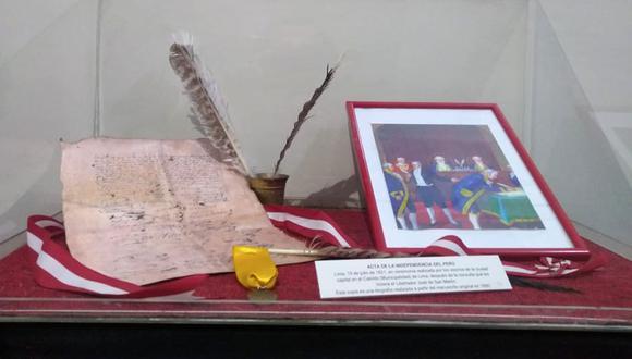 """El Ministerio de Cultura declaró Patrimonio Cultural de la Nación al """"Acta de Declaración de la Independencia del Perú"""", firmada en Lima el 15 de julio de 1821. (Foto: Kenyi Coba)"""