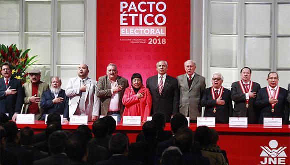 Organizaciones políticas están obligadas a seguir el mecanismo de resolución de conflictos que el propio Pacto Ético Electoral determina. (Foto: Agencia Andina)