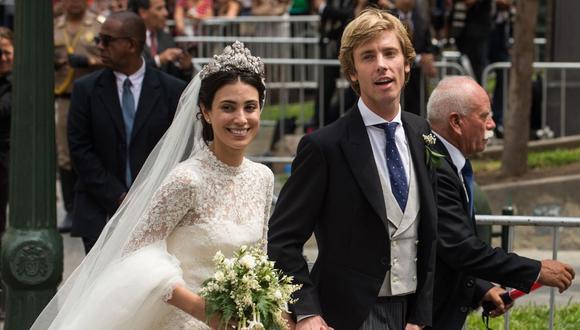 Alessandra de Osma y Christian Hannover se casaron en Lima en el 2018 paralizando la ciudad con una boda real. (AFP).