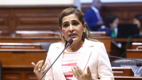 La congresista no agrupada Maritza García no descartó que Cambio 21 pueda tener nuevos integrantes. (Foto: Congreso de la República)