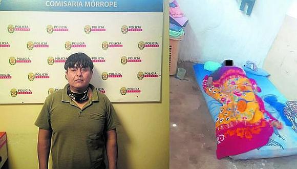 Lambayeque: Los uniformados comprobaron que la mujer estaba sobre un colchón, con el cuerpo tapado con una colcha y sin signos de vida. (Foto: PNP)