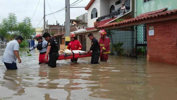 La ciudad de Piura y los distritos ubicados en la zona baja se inundaron el 27 de marzo de 2017 por el desborde del río Piura.