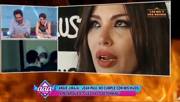 Angie Jibaja rompió en llanto al revelar que Jean Paul Santa María no cumple con sus hijos. (Captura de TV)
