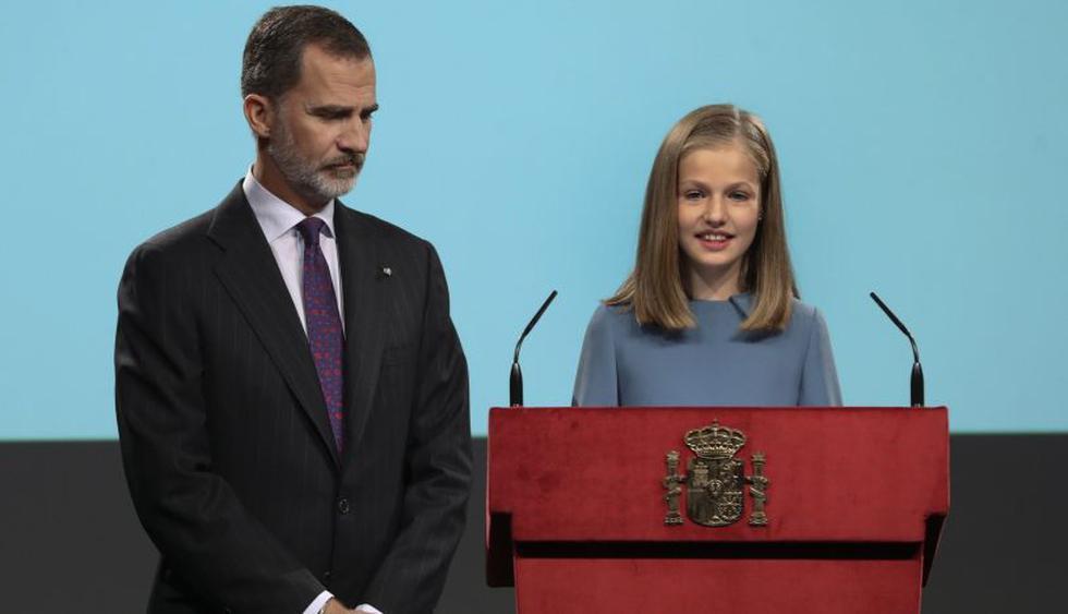 Princesa Leonor pronuncia sus primeras palabras en un acto oficial | Foto: EFE