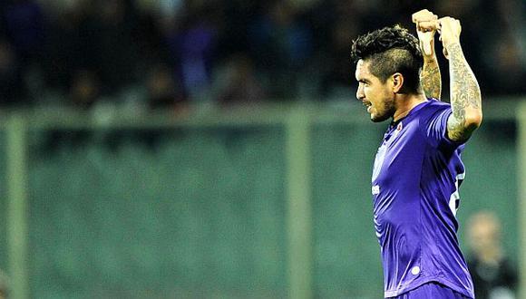 Juan Vargas celebra su tanto. Puso en venta (2-1) a su equipo, pero no alcanzó. (EFE)