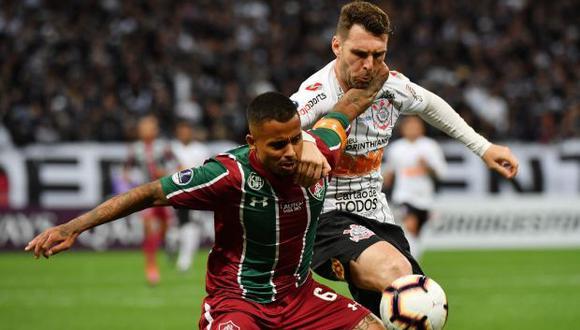 El duelo de ida entre Fluminense y Corinthians culminó empatado sin goles. (Foto: AFP)
