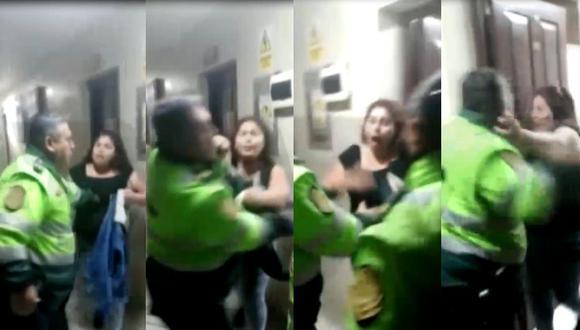 Policía lanza varios puñetes a mujer dentro de comisaría. (Foto: Captura de video)