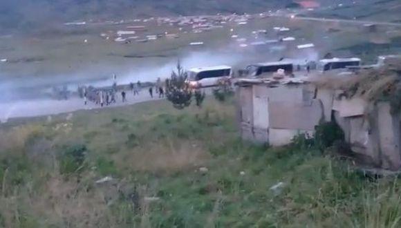 Comuneros de Pumamarca se enfrentaron contra la Policía.