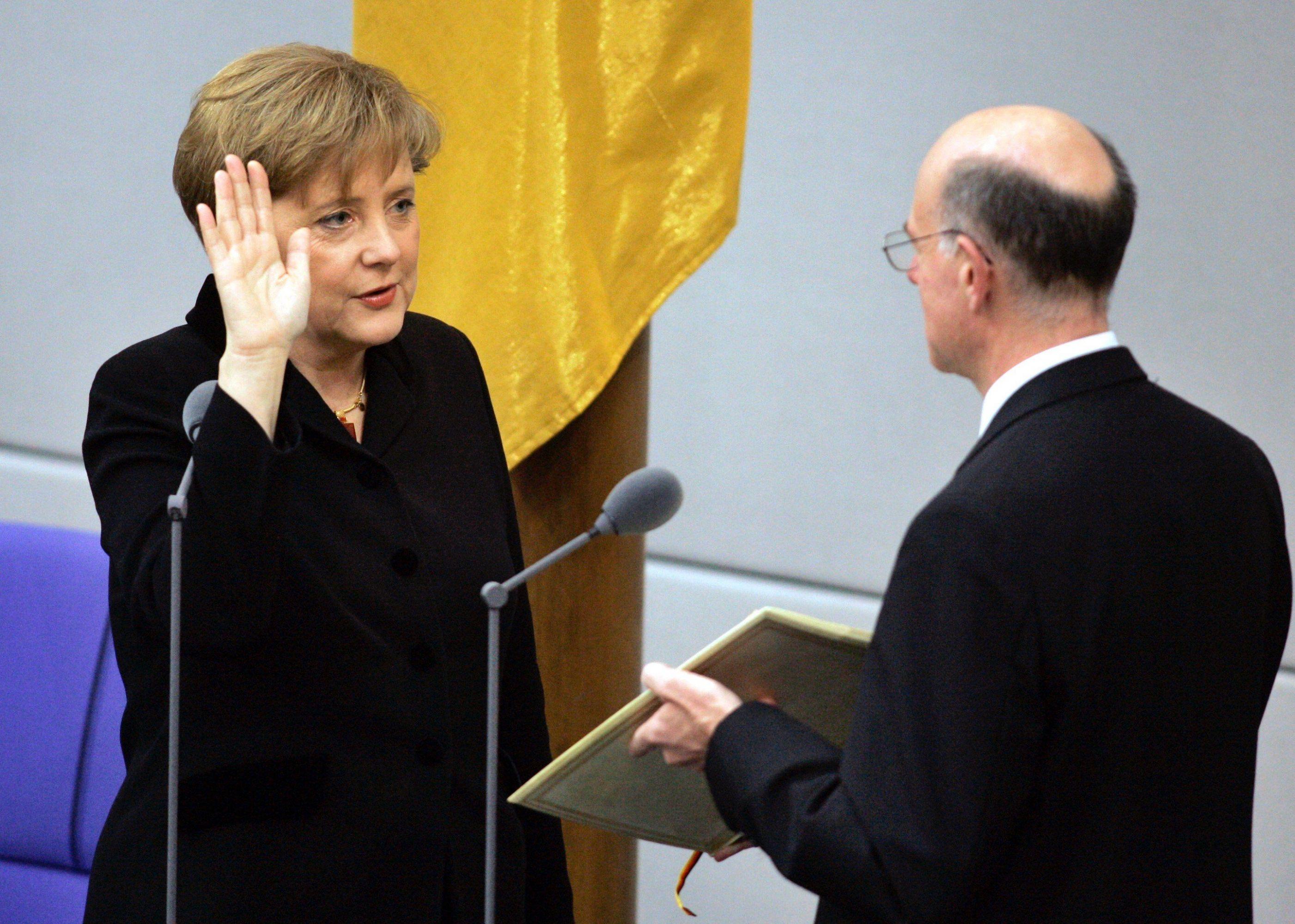 La canciller Angela Merkel, quien el próximo 17 de julio cumplirá 65 años, llegó al poder en 2005. (AP)