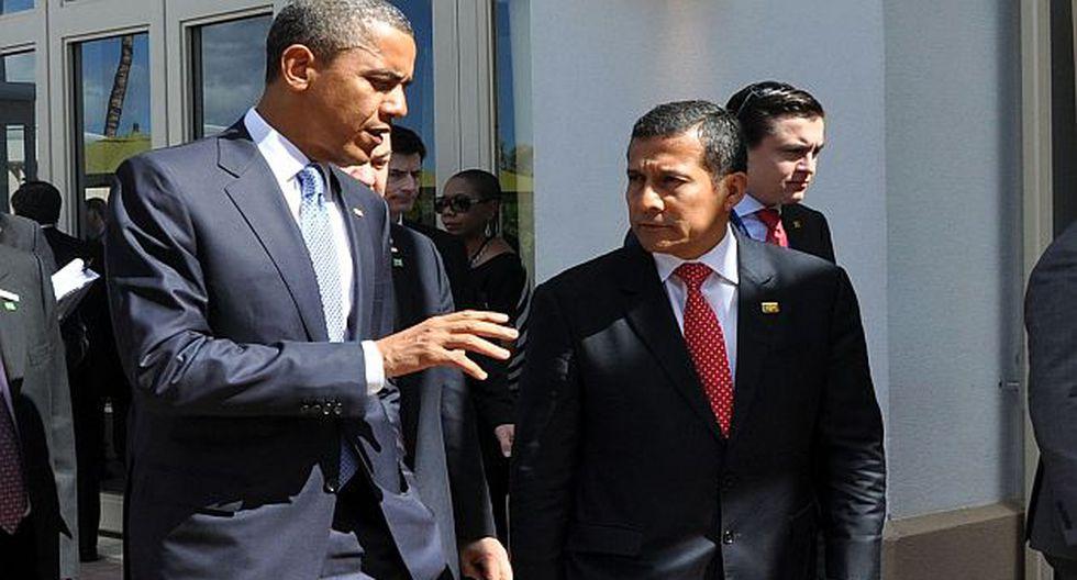 Obama y Humala cuando coincidieron en el APEC del 2011 en Hawái. (Sepres)