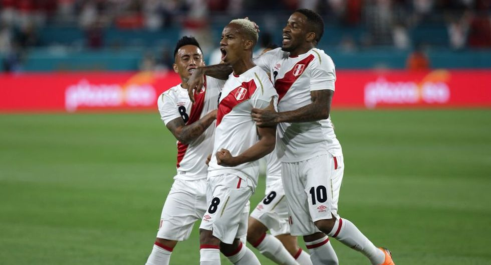 Perú venció 3-1 a Islandia tras superar 2-0 a Croacia en Miami, donde Carrillo colaboró con una conquista. (@SeleccionPeru)