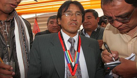 Óscar Mollohuanca es uno de los promotores de la huelga antiminera. (USI)