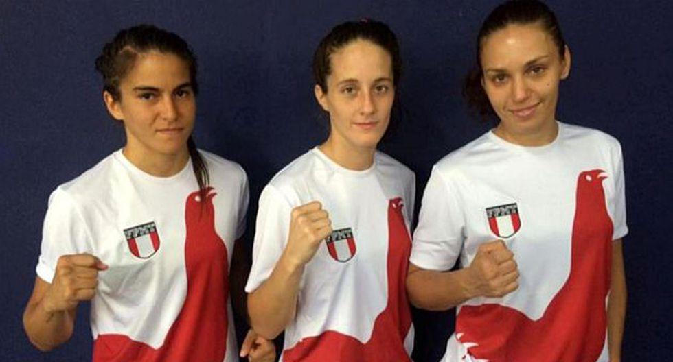 Estas son las tres peruanas que competirán en el Mundial de Muay Thai en Suecia. (IPD)