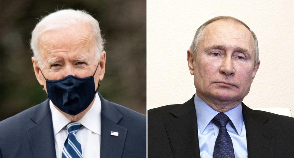 Imagen de Joe Biden, presidente de Estados Unidos, y de su homólogo ruso Vladimir Putin. (Foto: EFE / AP).