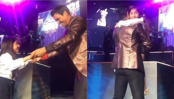 El cantante Chayanne sorprendió a todos al bailar con una niña sobre el escenario. (Foto: Captura de video)