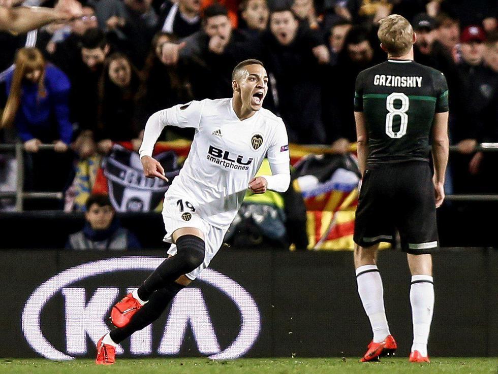 Valencia venció 2-1 al Krasnodar por los octavos de final de la Europa League. (EFE)