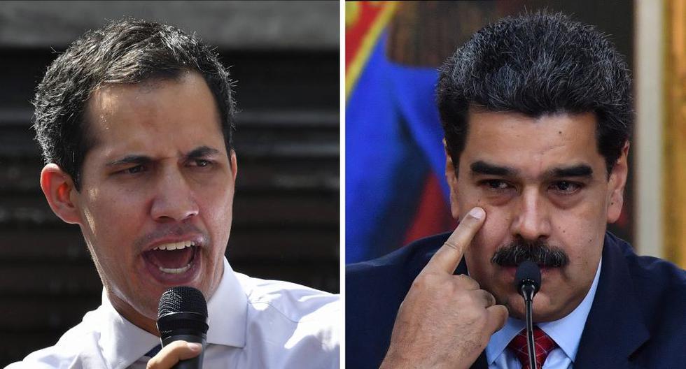 Imagen de Juan Guaidó y Nicolás Maduro. El Banco de Inglaterra, que custodia este oro en sus cámaras acorazadas como hace para muchos otros países, es un prestatario de servicios cuyo cliente es el Banco Central de Venezuela. (Yuri CORTEZ / AFP).