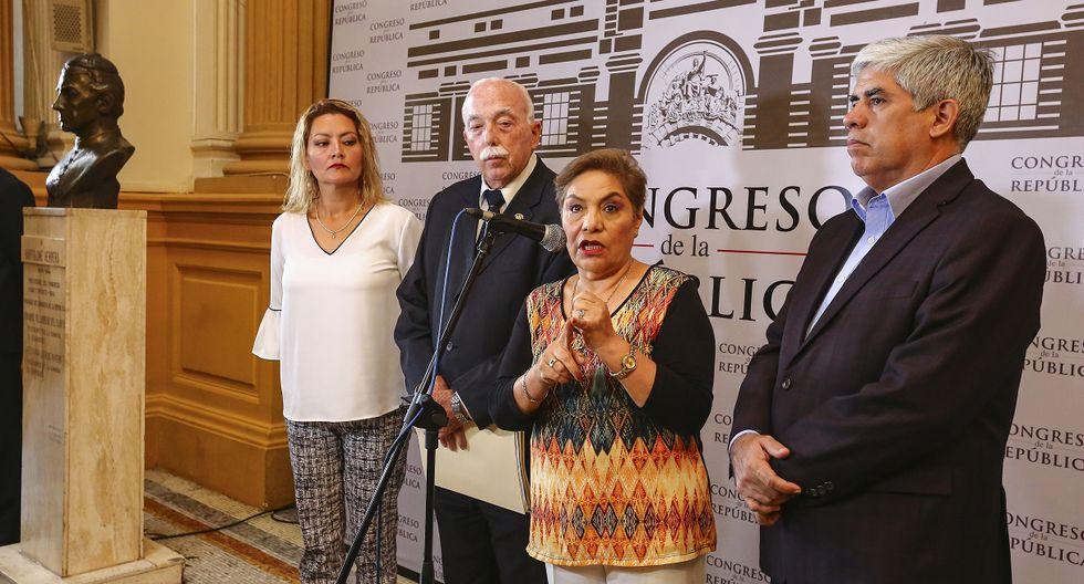 """Fuerza Popular cuestionó que no se haya hecho """"escándalo"""" cuando algún ministro se ha expresado a favor de un """"cierre del Congreso"""" como en esta circunstancia. (Foto: Congreso)"""