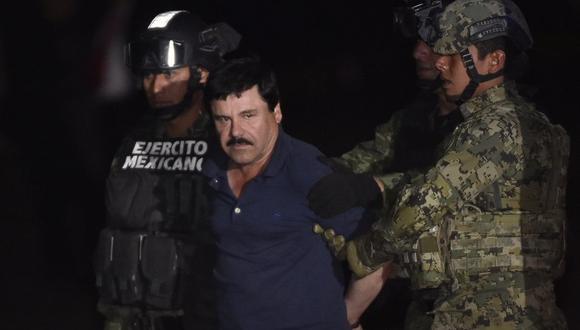 Joaquín 'El Chapo' Guzmán fue condenado a cadena perpetua, más 30 años de prisión. (Foto: AFP)
