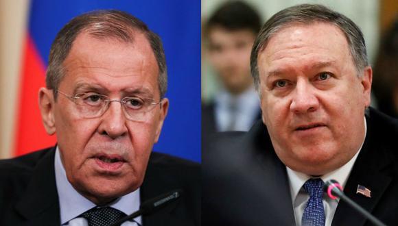 Serguei Lavrov (izq.) a Mike Pompeo (der.): Basta de desconfianzas, vamos a reanudar nuestros lazos. (Reuters / EFE)