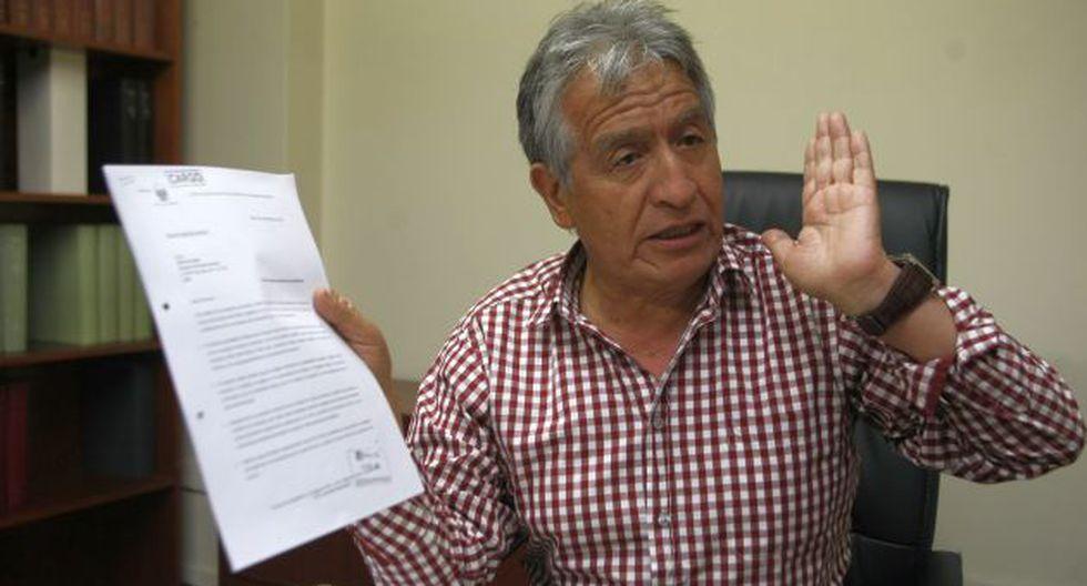 Responde. Virgilio Acuña sostiene que está a favor de Cañariaco. (Mario Zapata)